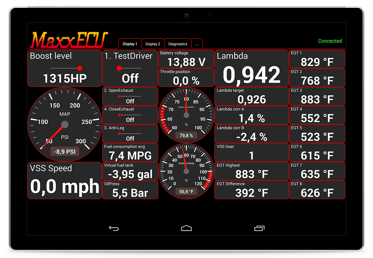 Maxxecu Mdash Android App For Real Time Data Monitoring
