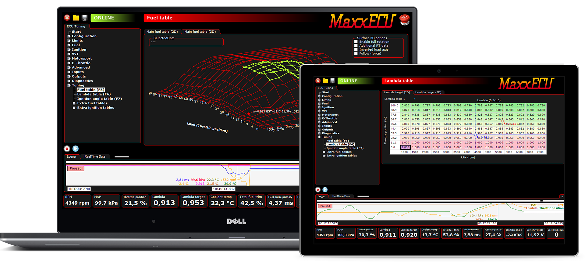 MaxxECU MTune - Powerful PC software for intuitive ...