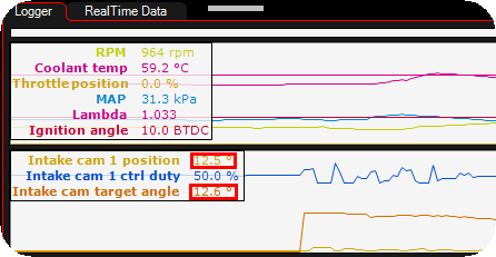 VVT cam position inputs