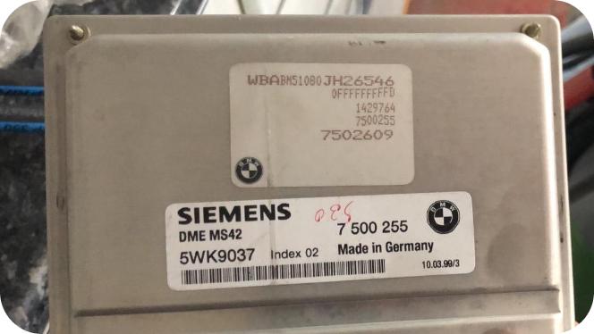 Calculateur moteur BMW 5WK9037 7500255 DME MS42